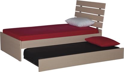 Εικόνα της Κρεβάτι μονό Δρύς109χ200χ100 &Μηχανισμός κρεβατιού με μετώπη 190χ87χ22