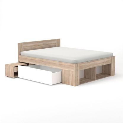 Εικόνα της Rico Κρεβάτι 160x200 Διπλό, Με 2 κομοδίνα, 2 συρτάρια και τάβλες TO-RIC160