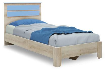 Εικόνα της Κρεβάτι παιδικό Looney pakoworld σε χρώμα castillo-μπλε 100x200εκ