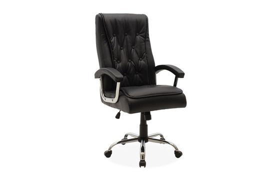 Εικόνα της Καρέκλα γραφείου διευθυντή Melvin pakoworld pu χρώμα μαύρο