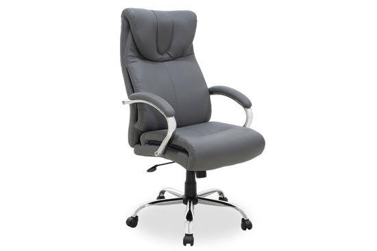 Εικόνα της Καρέκλα γραφείου διευθυντή Hilton pakoworld με pu χρώμα γκρι