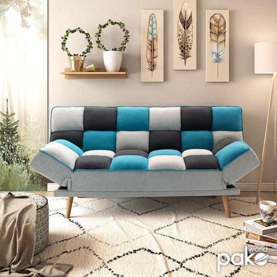Εικόνα της Καναπές - κρεβάτι Andy pakoworld 3θέσιος με ύφασμα πολύχρωμο 178x91x86εκ
