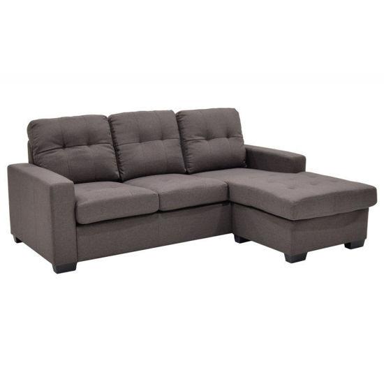 Εικόνα της Γωνιακός καναπές Betty pakoworld αναστρέψιμος υφασμάτινος χρώμα καφέ 200x160x90εκ